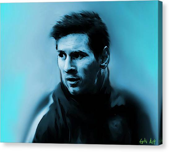 Neymar Jr Canvas Print - Lionel Messi  by Enki Art