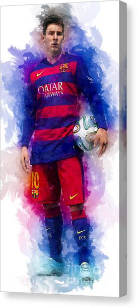 Lionel Messi Canvas Print - Lionel Messi by Ian Mitchell