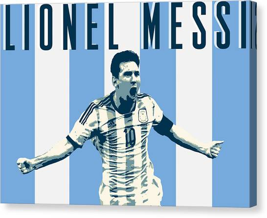 Lionel Messi Canvas Print - Lionel Messi by Semih Yurdabak