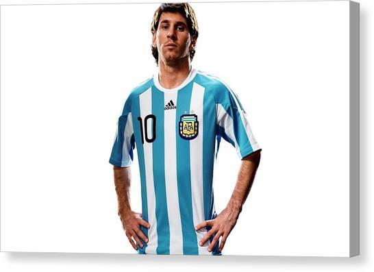 Lionel Messi Canvas Print - Lionel Messi by Super Lovely