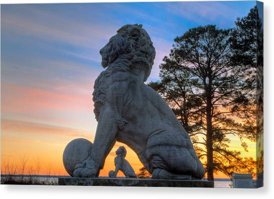 Lions Bridge At Sunset Canvas Print