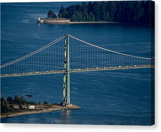 Lions Gate Bridge And Brockton Point Canvas Print