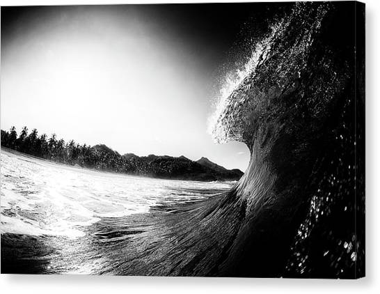 Canvas Print featuring the photograph lip by Nik West