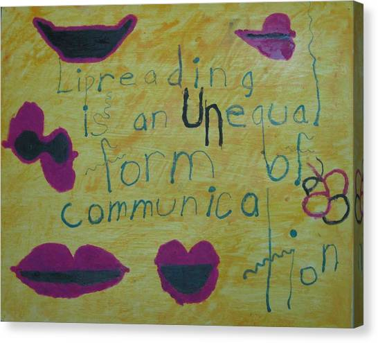 Lipreading Canvas Print by AJ Brown