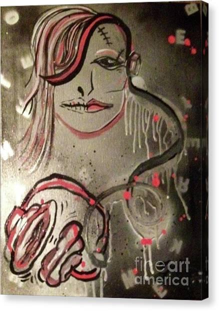 Liquid Ether Spacial Sound Canvas Print