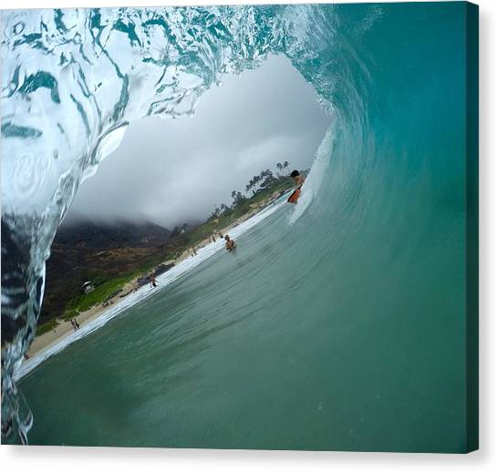 Bodyboard Canvas Print - Liquid Flow by Benen  Weir