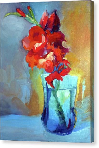Gladiolas Canvas Print - Liquid Gladiolas by Catherine Twomey