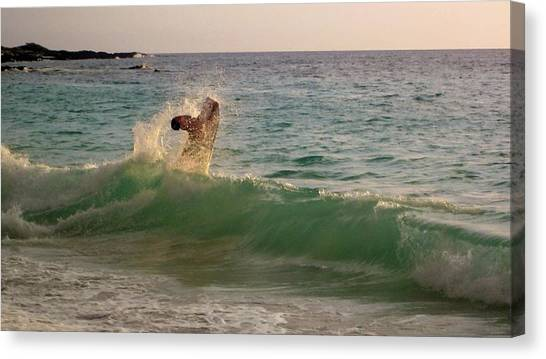 Bodyboard Canvas Print - Liquid Joy by Charles  Jennison