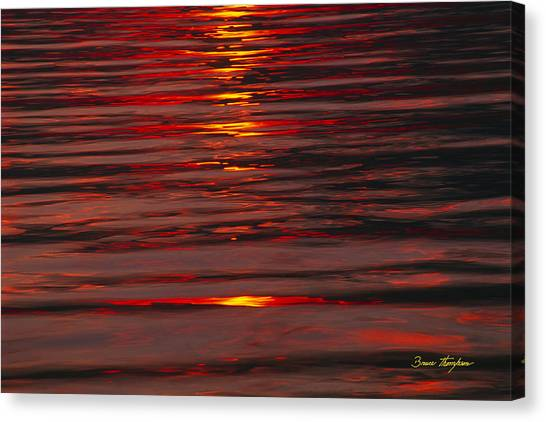 Liquid Sunset - Lake Geneva Wisconsin Canvas Print
