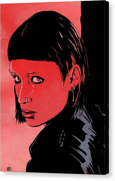 Dragons Canvas Print - Lisbeth Salander Mara Rooney by Giuseppe Cristiano