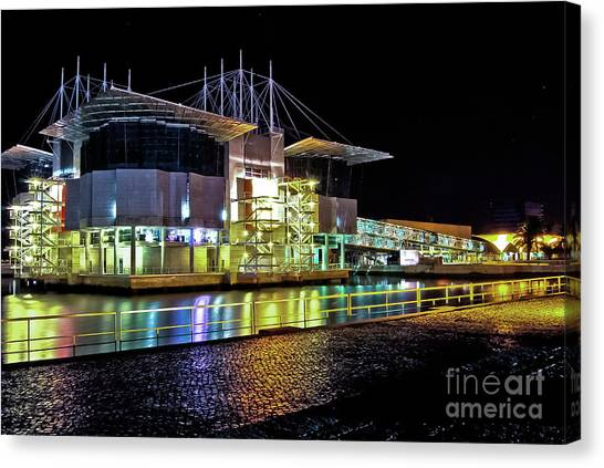 Lisbon - Portugal - Oceanarium At Night Canvas Print