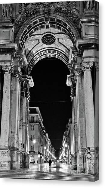 Lisbon - Portugal - Triumphal Arch - Rua Augusta Canvas Print