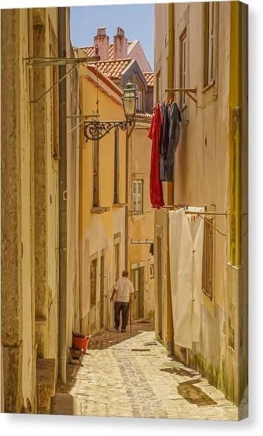 Lisbon Street # 1 Canvas Print