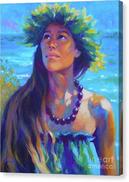 Hawaii Canvas Print - Listening To Aumakua by Isa Maria