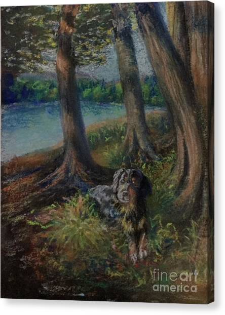 Listening To The Tales Of The Trees Canvas Print
