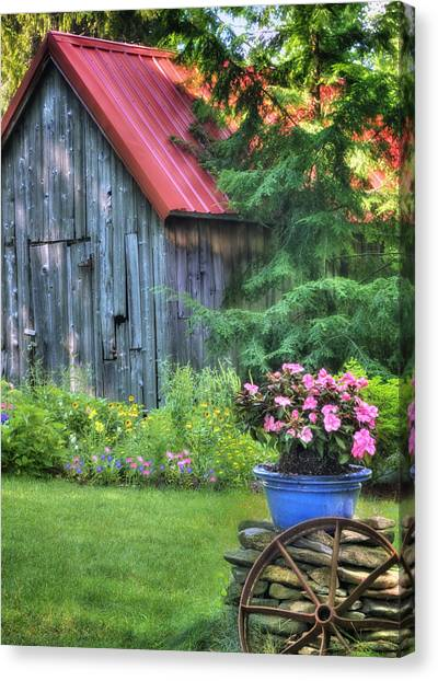 Cottage Summer Scene  Canvas Print