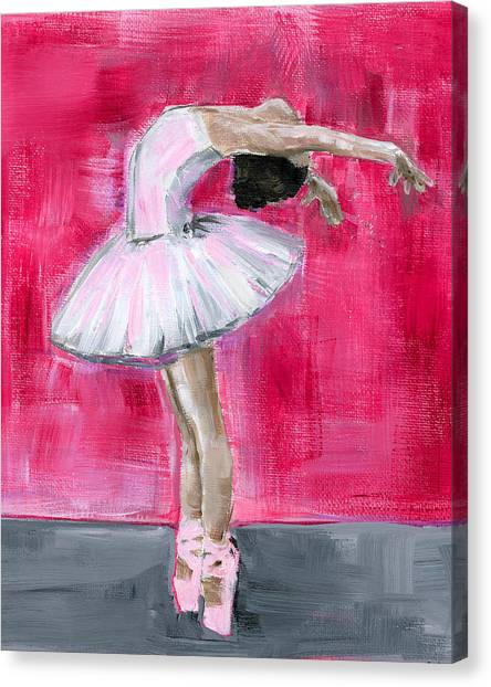 Little Ballerina #2 Canvas Print
