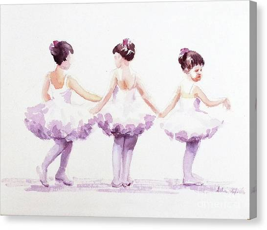 Little Ballerinas-3 Canvas Print