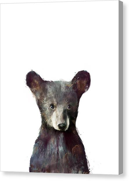 Forest Canvas Print - Little Bear by Amy Hamilton