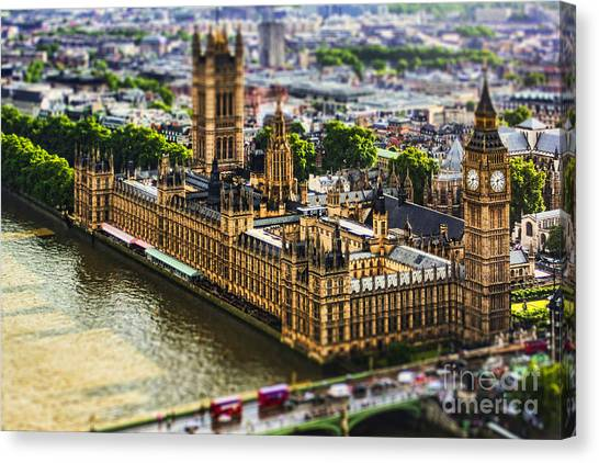 United Kingdom Canvas Print - Little Ben by Andrew Paranavitana