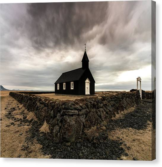 Glaciers Canvas Print - Little Black Church by Larry Marshall