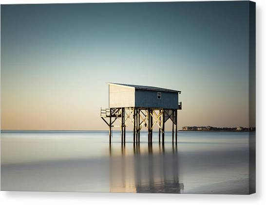 Hunting Canvas Print - Little Blue Sunrise by Ivo Kerssemakers