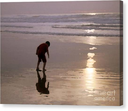 Little Boy At Play Canvas Print
