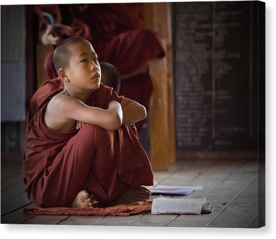 Monks Canvas Print - Little Buddha by Walde Jansky