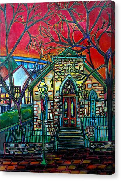 Little Church At La Villita Canvas Print by Patti Schermerhorn