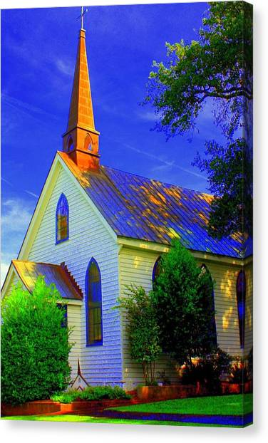 Little Church Canvas Print by Jill Tennison
