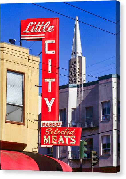 Little City Market North Beach San Francisco Canvas Print