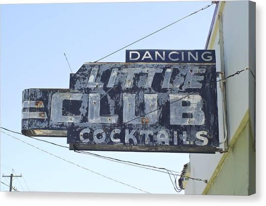 Little Club Cocktails Canvas Print
