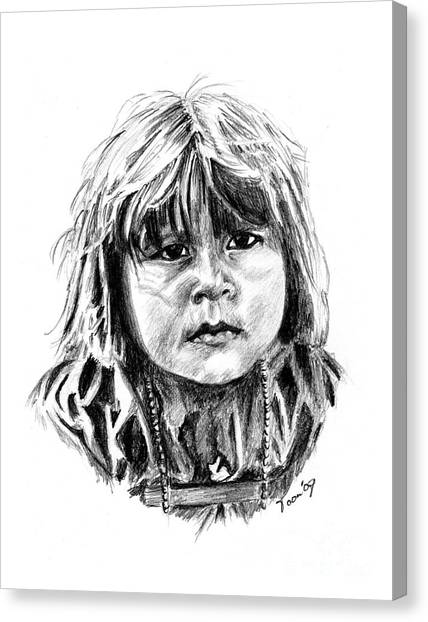 Little Comanche Canvas Print