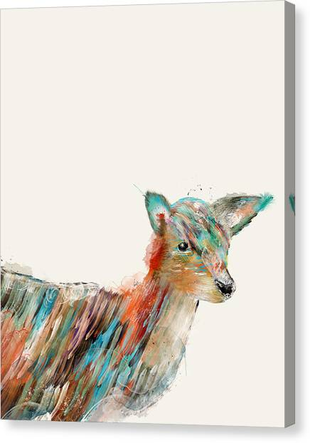 New Born Canvas Print - Little Deer by Bleu Bri