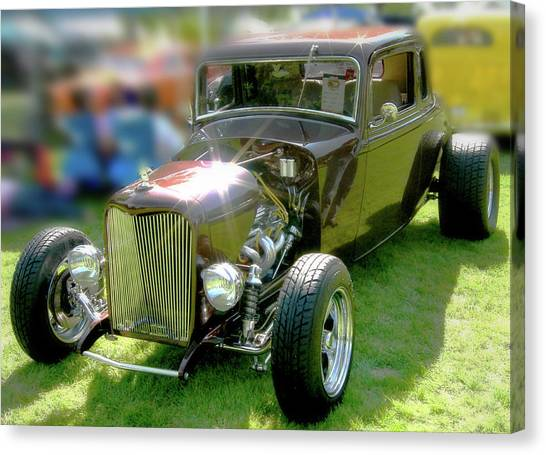 Little Deuce Coupe In Root Beer Brown Canvas Print