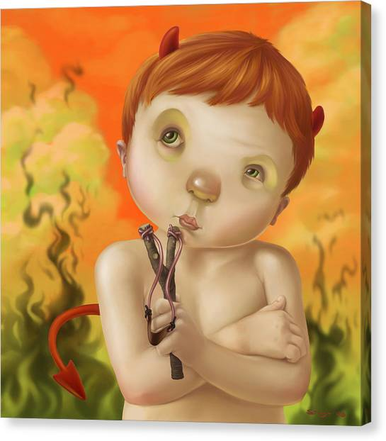 Little Devil Canvas Print