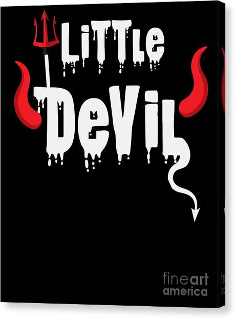 Canvas Print - Little Devil Youth Halloween Costume by Thomas Larch