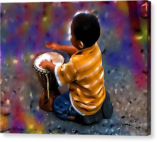 Little Drummer Boy Canvas Print by James  Mingo