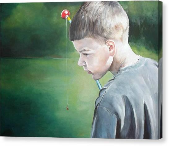 Little Fisherman Canvas Print