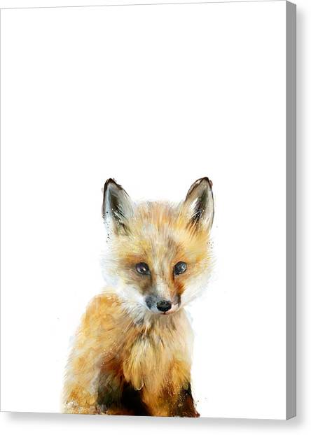 Forest Canvas Print - Little Fox by Amy Hamilton