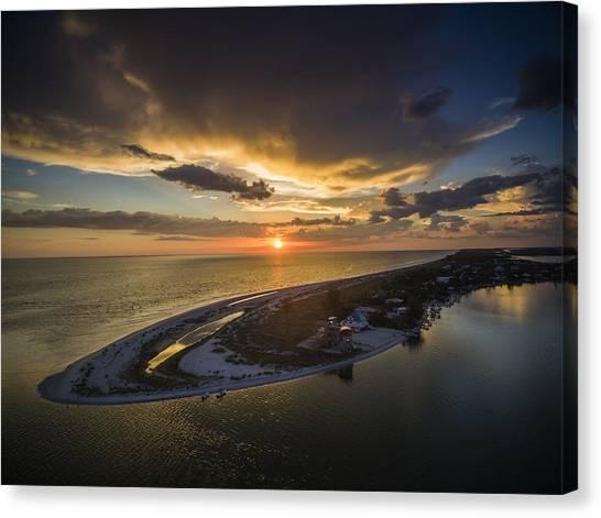 Little Gasparilla Island Point Sunset Canvas Print