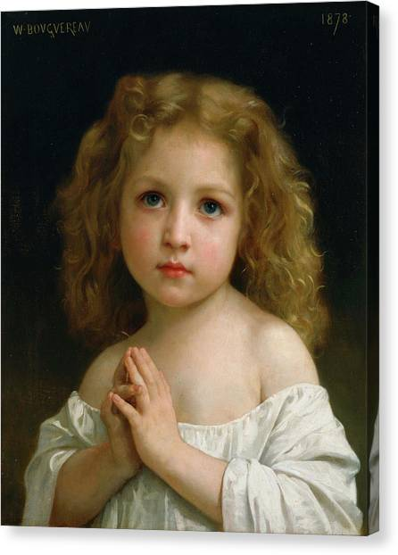 Academic Art Canvas Print - Little Girl by Adolphe William Bouguereau