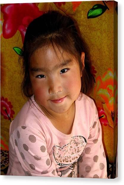 Little Girl Of The Gobi Canvas Print