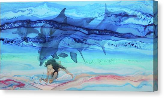 Little Girl Painter Canvas Print