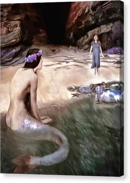 Fantasy Cave Canvas Print - Little Girls Dream by Pennie  McCracken