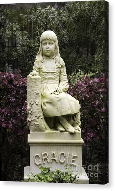 Little Gracie Bonaventure Cemetery Canvas Print