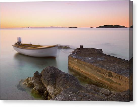 Canvas Print featuring the photograph Little Haven by Davor Zerjav