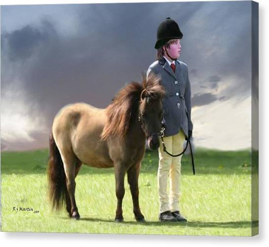 Little Horseman Canvas Print