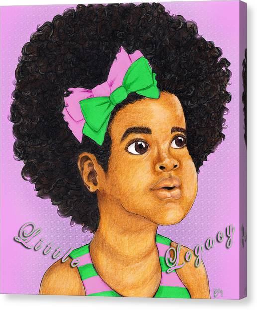 Alpha Kappa Alpha Canvas Print - Little Legacy Series- A K A by BFly Designs
