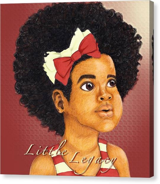 Delta Sigma Theta Canvas Print - Little Legacy Series- D S T by BFly Designs